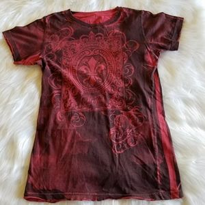 Red and Black Sinful Tee Large
